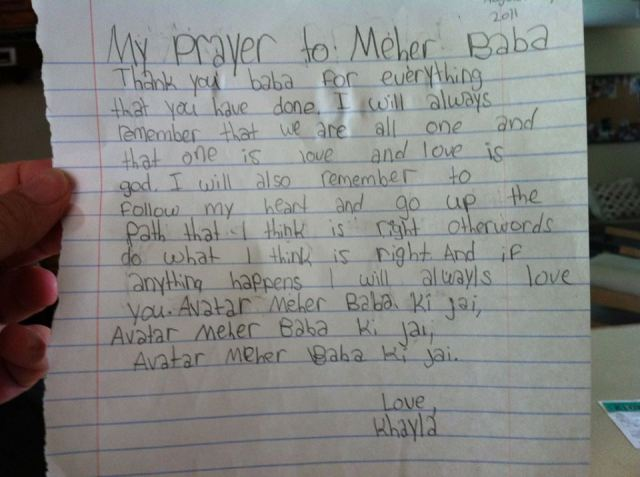 Khayla's prayer2011