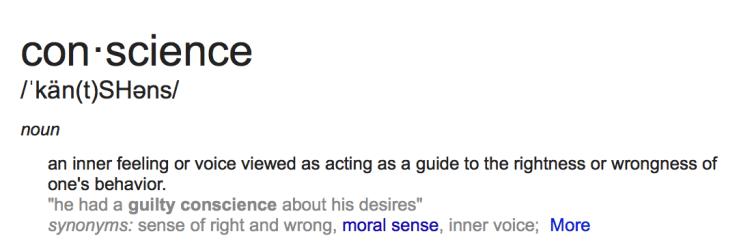 conscience def
