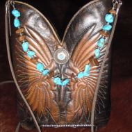 Swanky Shanks, repurposed cowboy boots!