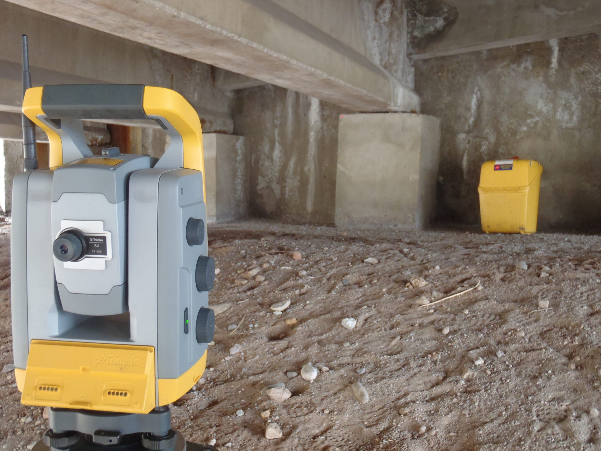 surveying under bridge