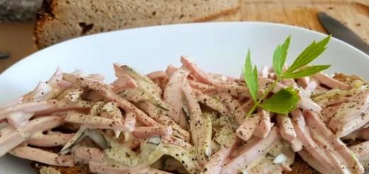 Fleischwurstsalat mit Mayonnaise
