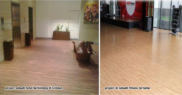 lantai vinyl meigan di hotel dan fitness ternama