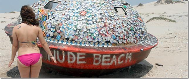 德克萨斯州 South Padre Island UFO UFO 裸体海滩