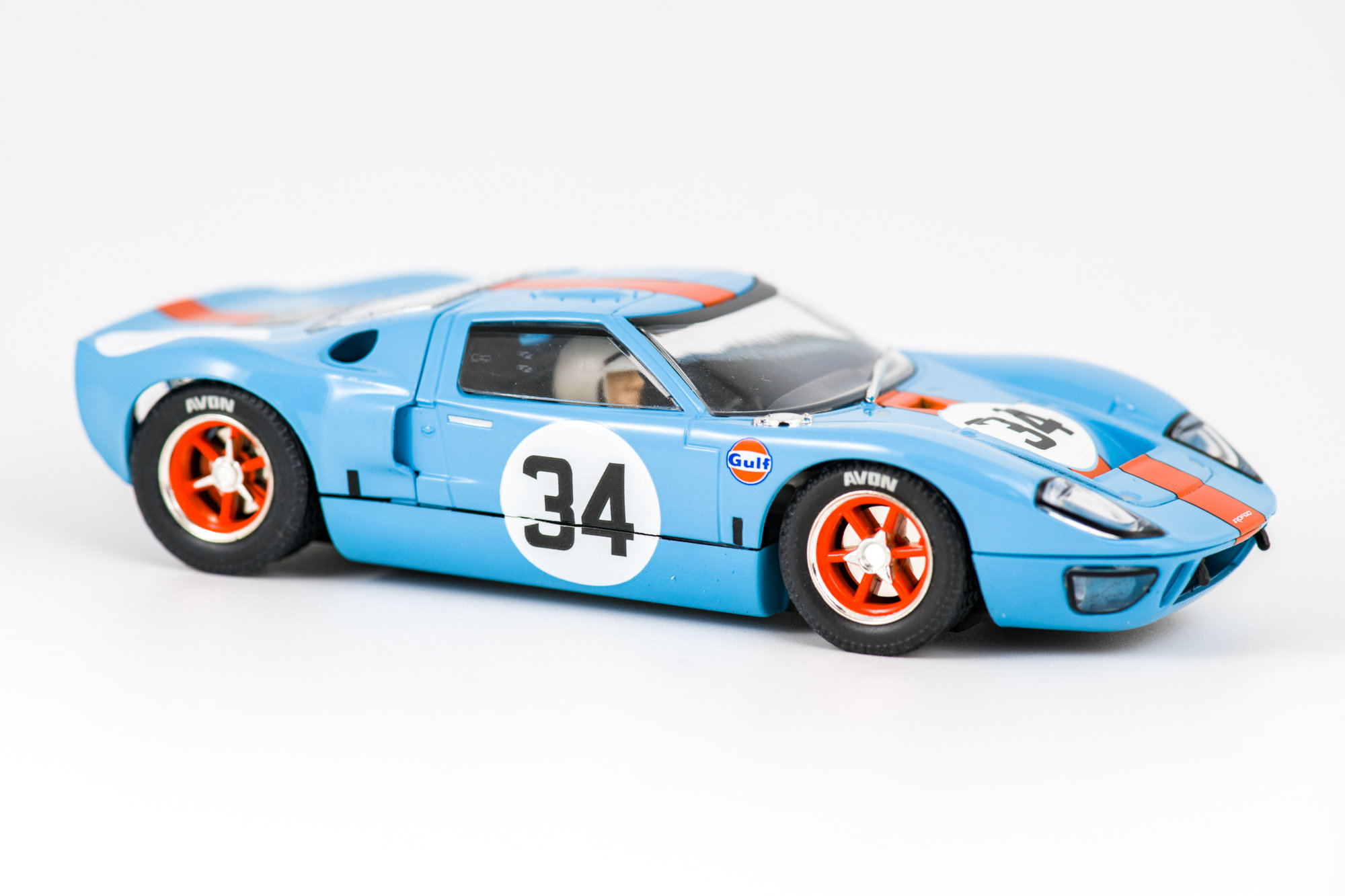 Ford GT40 Spa 1000 km 1968 - Scalextric ROFGO Collection Gulf Triple Pack
