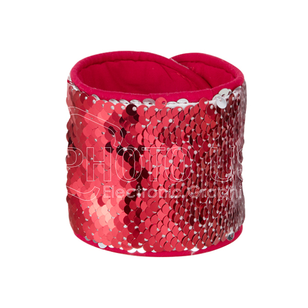 Sequin Bracelet (Red W White)-1
