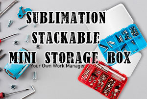 Sublimation Stackable Mini Storage Box