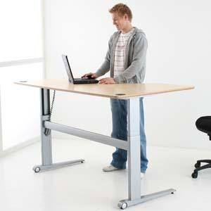 bureau ergonomique assis debout electrique