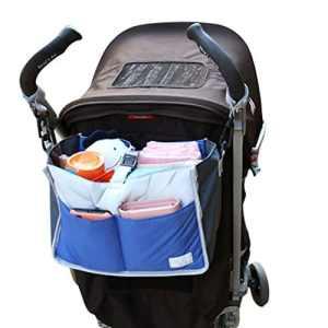 fristee bébé Organiseur pour poussettes, landaus, poussettes, buggies-blue