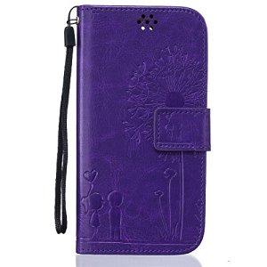 Jepson LG K7 / LG K8 / LG Tribute 5 (5 pouces) coque , PU Cuir Portefeuille Etui Housse Case Cover , carte de crédit Fentes pour , L'utilisation de la technologie de pointe , gaufrage , Lovers – Pissenlit , idéal pour protéger votre téléphone ,