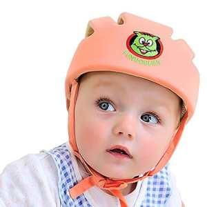Casque de sécurité pour bébé et enfant, Bonnet de protection doux pour bébé – ABUSA casque mignon et adorable bonnet antichoc casque de randonnée et de marche avec coussin de tête .
