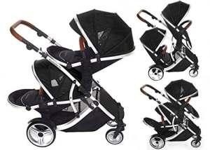 Kids Kargo Duellette 21 Bs Twin Double Pushchair Stroller Buggy (Dooglebug Black)
