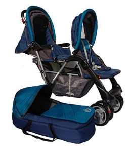 Poussette double sport turquoise Top Design – BambinoWorld