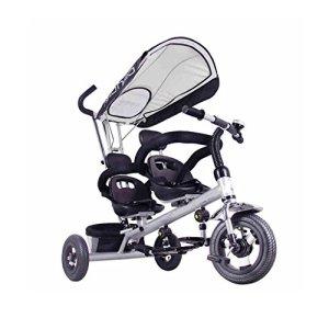 Poussettes cannes Enfants Tricycle 4 dans 1 Canopy Trike Vélo W/Poignée Push Sièges Jumeaux Pour Bébé Bébé Transport