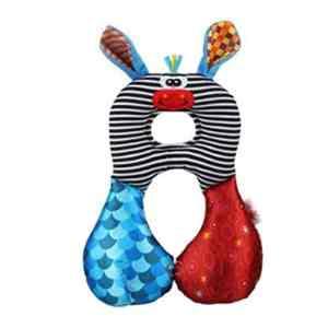 iSuper coussins, oreiller pour bébé Coussin appuie-tête Motif humoristique pour Voyage d'appui tête et cou pour enfants (âne)