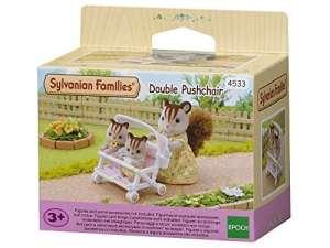 Sylvanian Families -4533 – Poussette Double – Poupées et Accessoires – Sylvanian