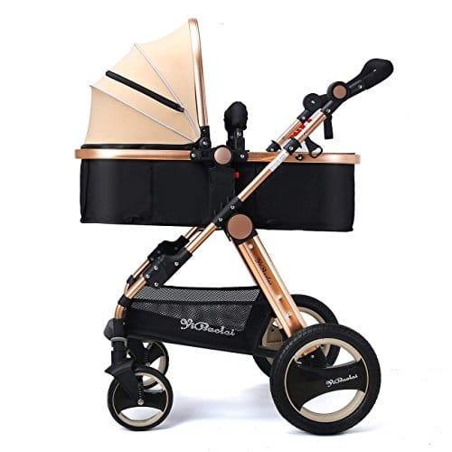 YBL poupée ombrelle poussette bébé Quatre Roue landau inclinable pliage Implémentation bidirectionnelle Convient aux enfants de 0 à 3 ans