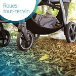 Bébé Confort Gia Poussette Compacte Tout-Terrain avec Assise Confortable, de La Naissance à 4 Ans (0-22kg), Nomad Black