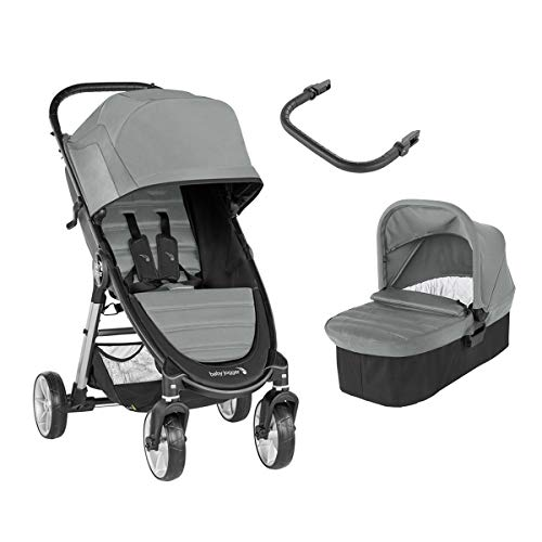 Baby Jogger – Poussette City Mini 2-4 roues Duo – Elate (nacelle + barre) Poussette DUO
