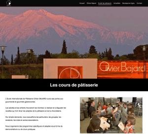 cours de pâtisserie de l'école internationale Olivier Bajard
