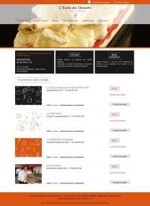 cours de pâtisserie de l'école des Desserts de Thierry Bamas