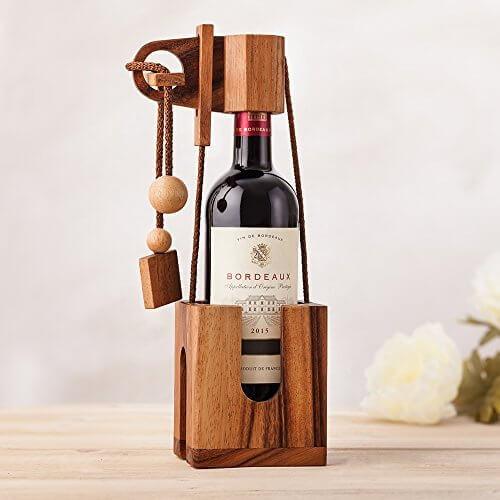 Bloque-bouteille en bois