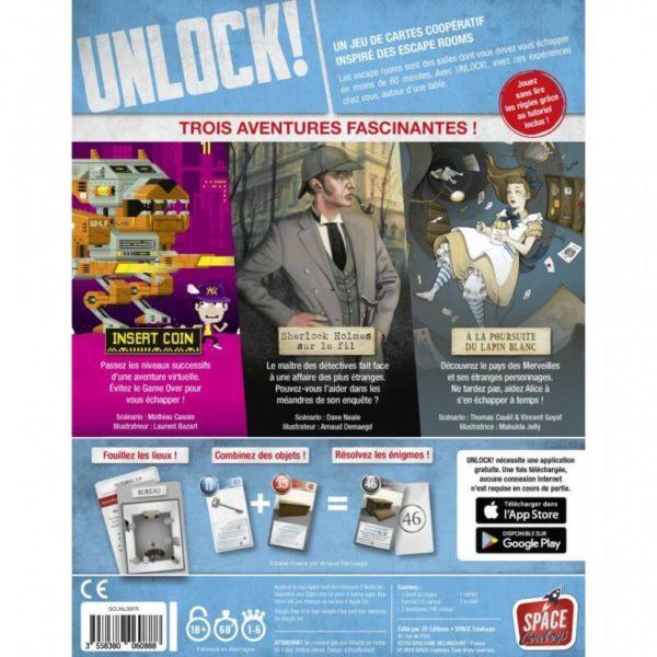Unlock Heroic Adventures - boite verso