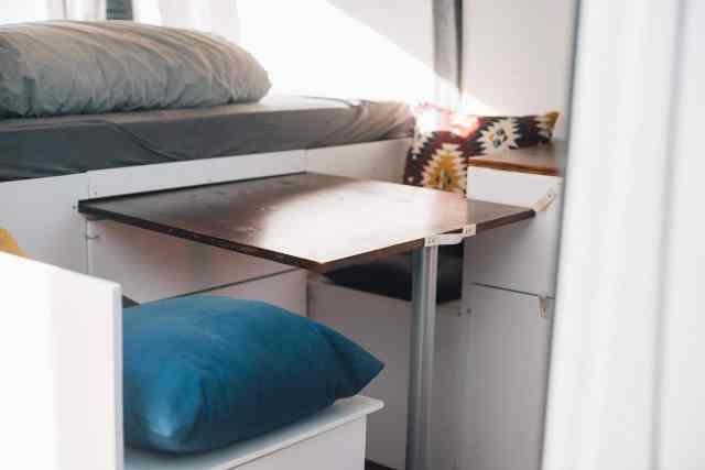 Camper ausziehbarer Tisch Stufe 3 mit 72 x 75