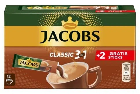 144er Pack Jacobs Löskaffee 3in1 Classic für 21,49€