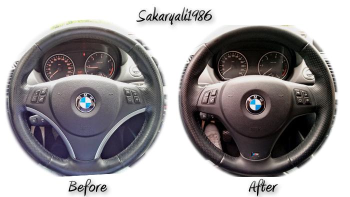 Upgrade von BMW Chrome Lenkradspange auf BMW M Lenkradspange