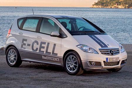 Elektroauto Daimler Mercedes-Benz A-Klasse E-CELL, B-Klasse F-CELL und smart electri