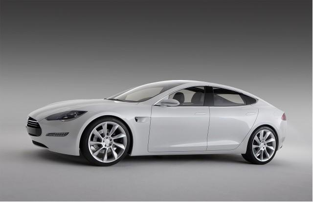 Tesla präsentiert sein Elektroauto Model S beim Genfer Automobilsalon Elektromobil