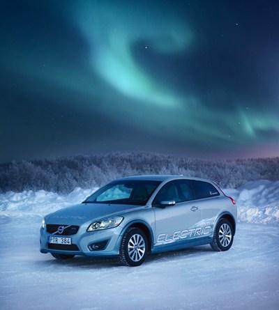 Das Elektroauto Volvo C30 Electric fühlt sich auch im kalten Schweden wohl. Bildquelle: Volvo