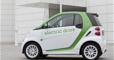Laut Smart verfügt das Elektroauto Fortwo Electric Drive über eine Reichweite von 140 Kilometern, der Strom wird in Lithium-Ionen-Akkus gespeichert, welche über eine Leistung von 17,6 Kilowattstunden verfügen. Bildquelle: Smart/Daimler