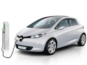 Elektroauto Renault Zoe an einer Ladesäule. Bildquelle: Renault