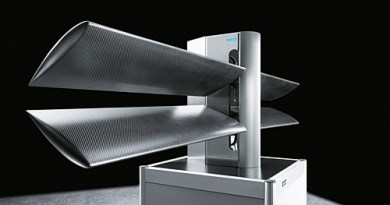 Dies ist der DualWingGenerator von Fest, die Flügelblätter bewegen sich auf und ab und können so Strom erzeugen. Bildquelle: Festo.com