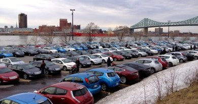 Auf dem Foto des Elektroauto-Treffens in Montreal (Kanada) sieht man besonders viele Nissan Leaf. Bildquelle: aveq.ca
