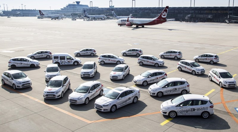 Die Fahrzeuge der Elektro-Flotte colognE-mobil Ford Focus BEV, Ford C-MAX Energi und Ford Tourneo Connect. Foto: obs/Ford-WerkeGmbH/dpp-AutoReporter