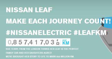 Im August 2014 sind die Besitzer des Elektroauto Nissan Leaf über 857 Millionen Kilometer mit ihrem Stromer gefahren. Bildquelle: Sue Terry / Nissan / Youtube