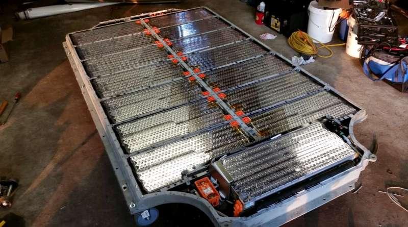 Batterieeinheit vom Elektroauto Tesla Model S. Bildquelle: wko57 (Tesla Motors Club Forum)