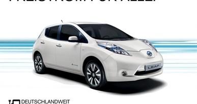 Nissan bietet ab Oktober Freistrom für alle Elektroautos an. Bildquelle: Nissan