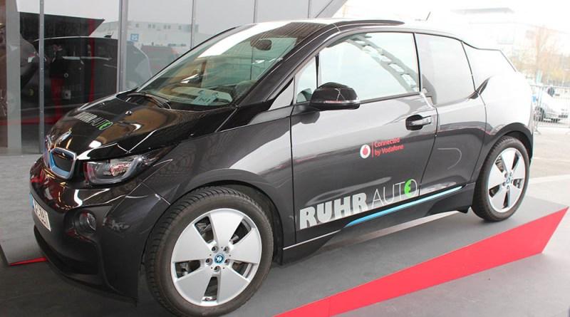Elektroauto BMW i3 auf der Cebit.