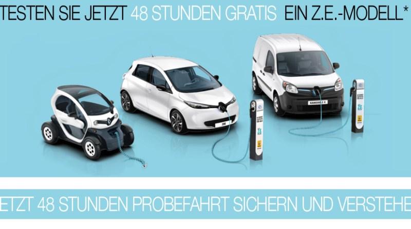 Probefahrt XXL mit den Elektroautos von Renault. Bildquelle: Screenshot Renault