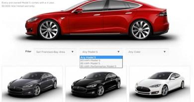 Tesla Motors bietet das Elektroauto Model S jetzt auch als Gebrauchtwagen an. Bildquelle: Screenshot von Teslamotors.com