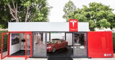 So sieht einer der Pop-up Stores von Tesla Motors aus. Bildquelle: TeslaMotors.com