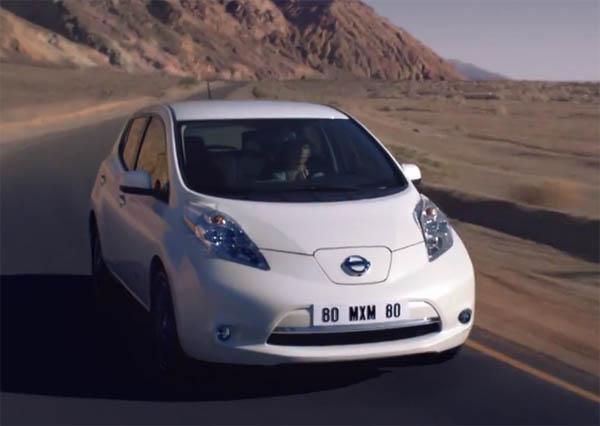 Dies ist ein Screenshot aus dem Werbevideo für die Limited Edition des Elektroauto Nissan Leaf. Bildquelle: Nissan UK / Youtube.com