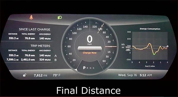 Casey Spencer hat es mit dem Elektroauto Tesla Model S 85D geschafft, über 885 Kilometer (550 Meilen) mit nur einer Batterieladung zu fahren. Bildquelle: Casey Spencer / Youtube.com