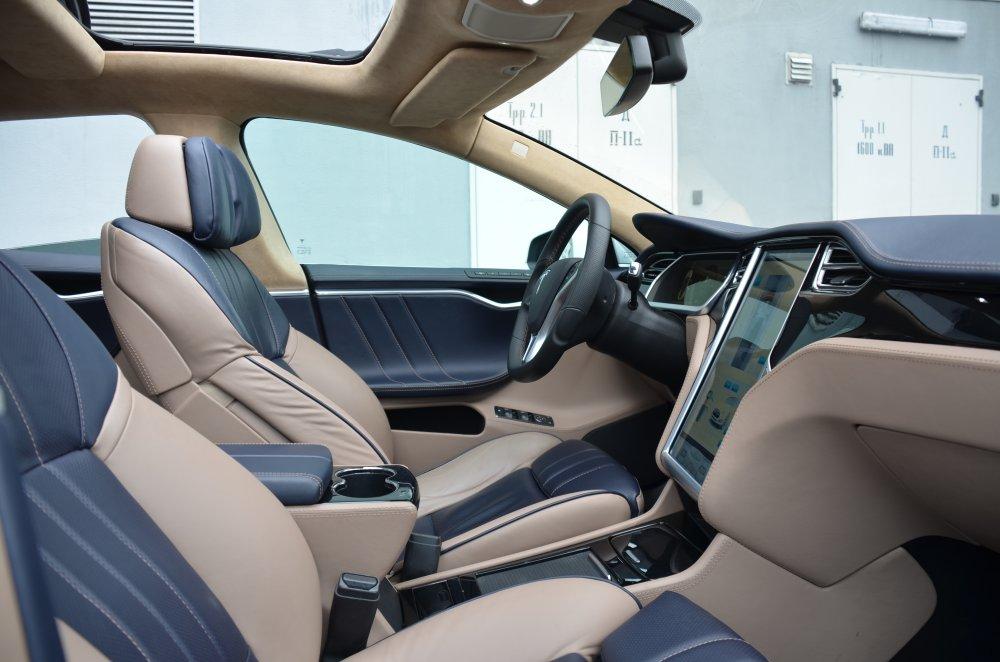 Elektroauto Tesla Model S mit 6er BMW Interieur - Mein Elektroauto