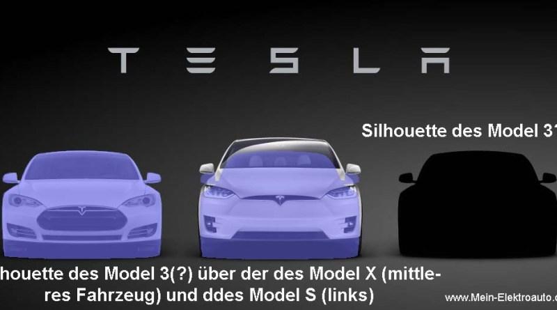 Am 31. März 2016 wird noch nicht das finale Design des Elektroauto Tesla Model 3 präsentiert werden. Aus diesem Grund wurde wahrscheinlich die Silhouette des Model S verwendet. Bildquelle: Tesla Motors