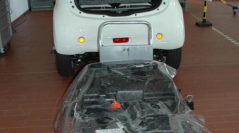 Batterieeinheit des Elektroauto Mitsubishi Electric Vehicle. Bildquelle: MMD Automobile GmbH