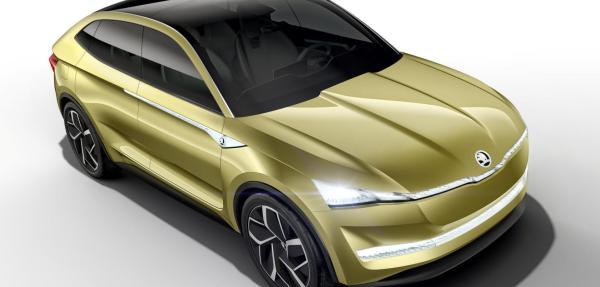 Die Frontscheibe des Elektroauto Skoda Vision ist besonders groß und ermöglicht so einen guten Ausblick auf die Umwelt. Bildquelle: Skoda